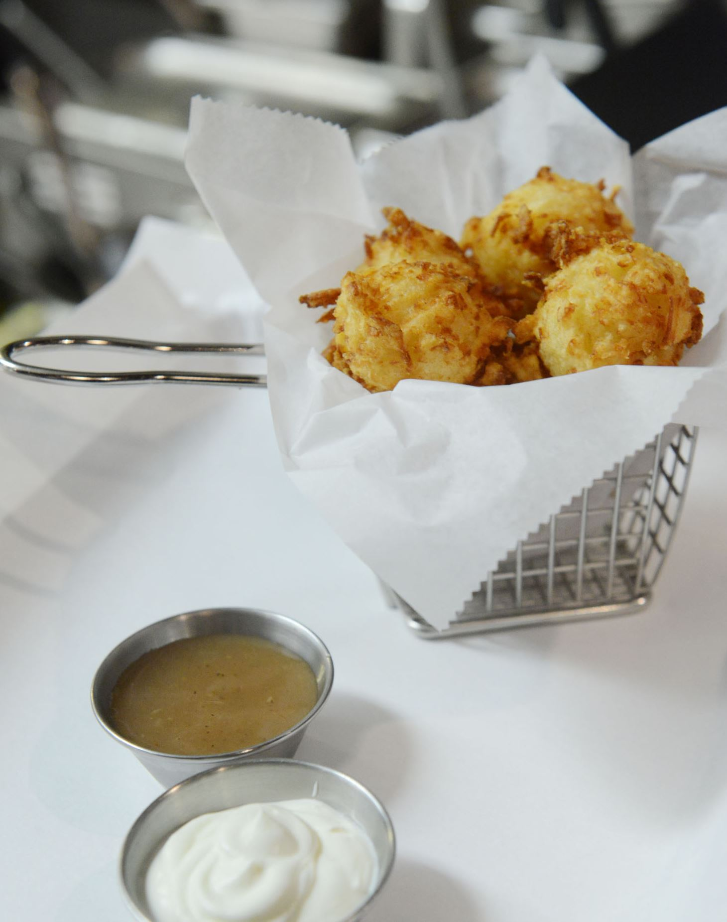 Latketots These are the latke tots from Nu Jewish Bistro in Squirrel Hill.
