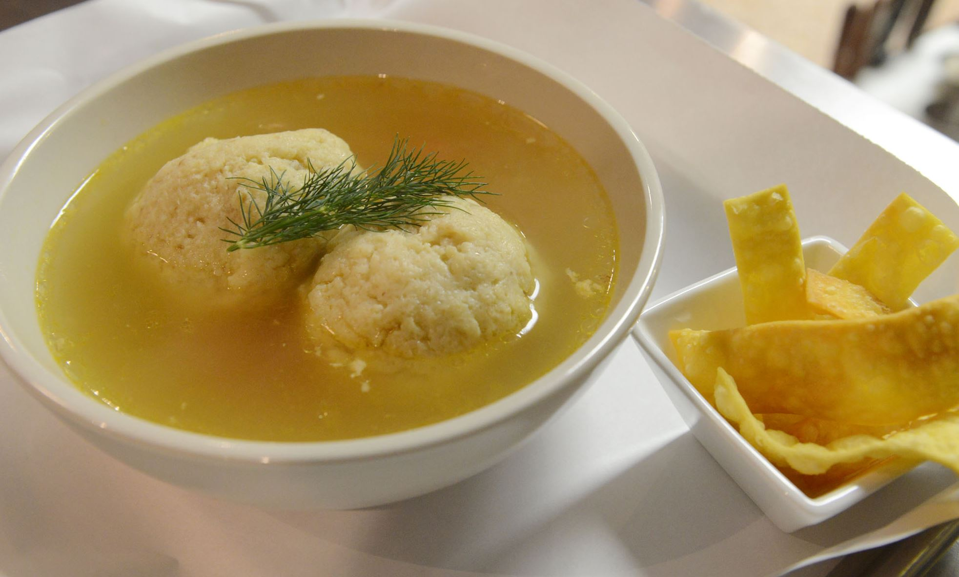 Matzo Matzo ball soup at Nu Jewish Bistro in Squirrel Hill.