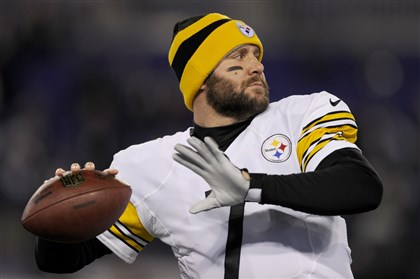 cook1202 Ben Roethlisberger warms up before the Steelers faced the Ravens in Baltimore Thanksgiving evening.