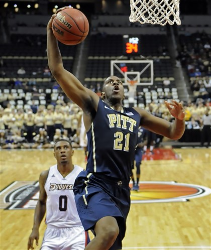 pittbb2 Pitt's Lamar Patterson drives to the net in the first half of the City Game at Consol Energy Center.