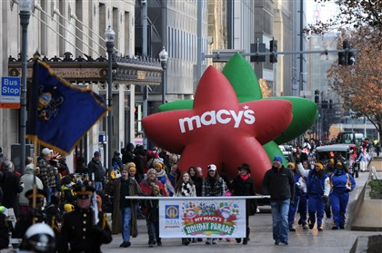 Macy's Holiday Parade in Pittsburgh 04 The annual My Macy's Holiday Parade proceeds Downtown. After 32 years, the department store will no longer lead sponsorship of the event.