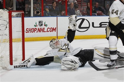 Jeff Zatkoff Goaltender Jeff Zatkoff defends the net against the Florida Panthers at the BB&T Center.