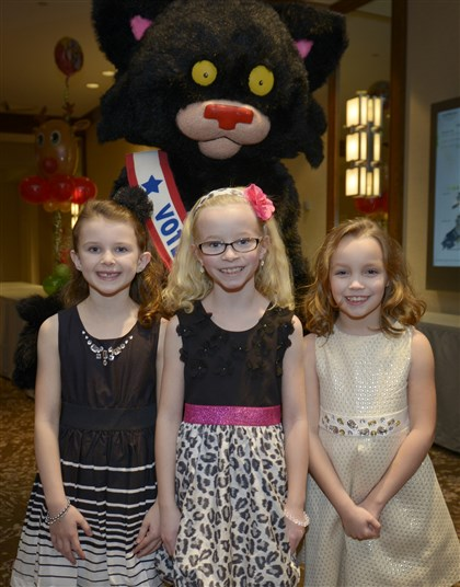 20131201jrReindeerMag6-5 Eight-year-olds Ava Como, Lauren Rodgers and Cate Murray.