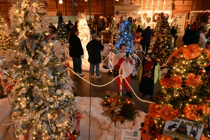 20131130bwTreesWest03-2 The Beaver County Festival of Trees is in its 24th season with 26 artificial Christmas trees and 12 wreaths on display in the Lodge at Brady's Run in Brady's Run Park in Fallston.