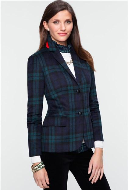 plaidjacket Black Watch blazer from Talbots, $169.
