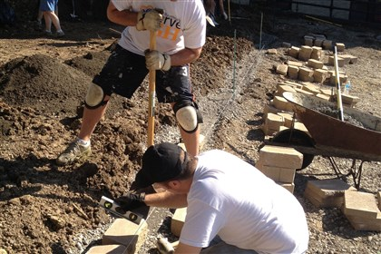 "portfolio1202extra Volunteers work to create "" Lafayette Hilltop,"" a landscaped gateway to Fineview and Perry Hilltop."
