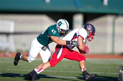 20131202hoallenzspts.jpg Gary Allen, a North Allegheny High School graduate, worked his way to an All-Pennsylvania State Athletic Conference linebacker at Slippery Rock University.
