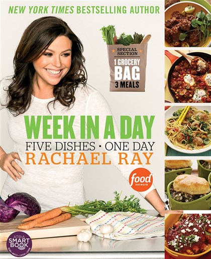 "Raycookbook ""Week in a Day"" cookbook by Rachael Ray, $22."