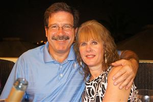 Sandy Hook school psychologist Mary Sherlach, 56, seen here with her husband, Mark