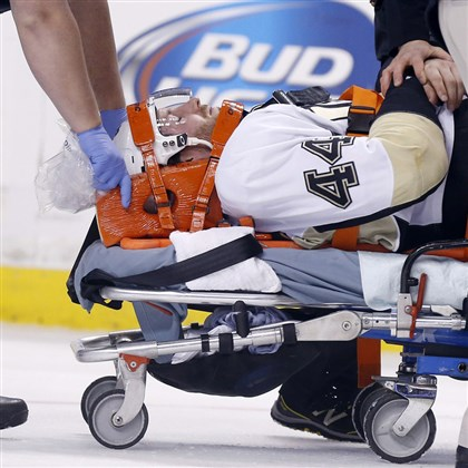 orpik1208-1 Brooks Orpik's concussion is among a spate of injuries sustained by the Penguins this season.