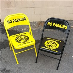 "brian1209chairs The ""Pittsburgh Parking Chair"" from Commonwealth Press that comes with a warning: this does not have the force of law."