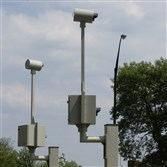 Red-light cameras stand at Roosevelt Boulevard and Grant Avenue in Philadelphia.