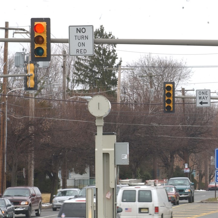 20131211hoRedLiteCamera02-1 Philadelphia's first red-light camera, seen here in 2005 at at the intersection of Roosevelt Blvd. and Grant Avenue.