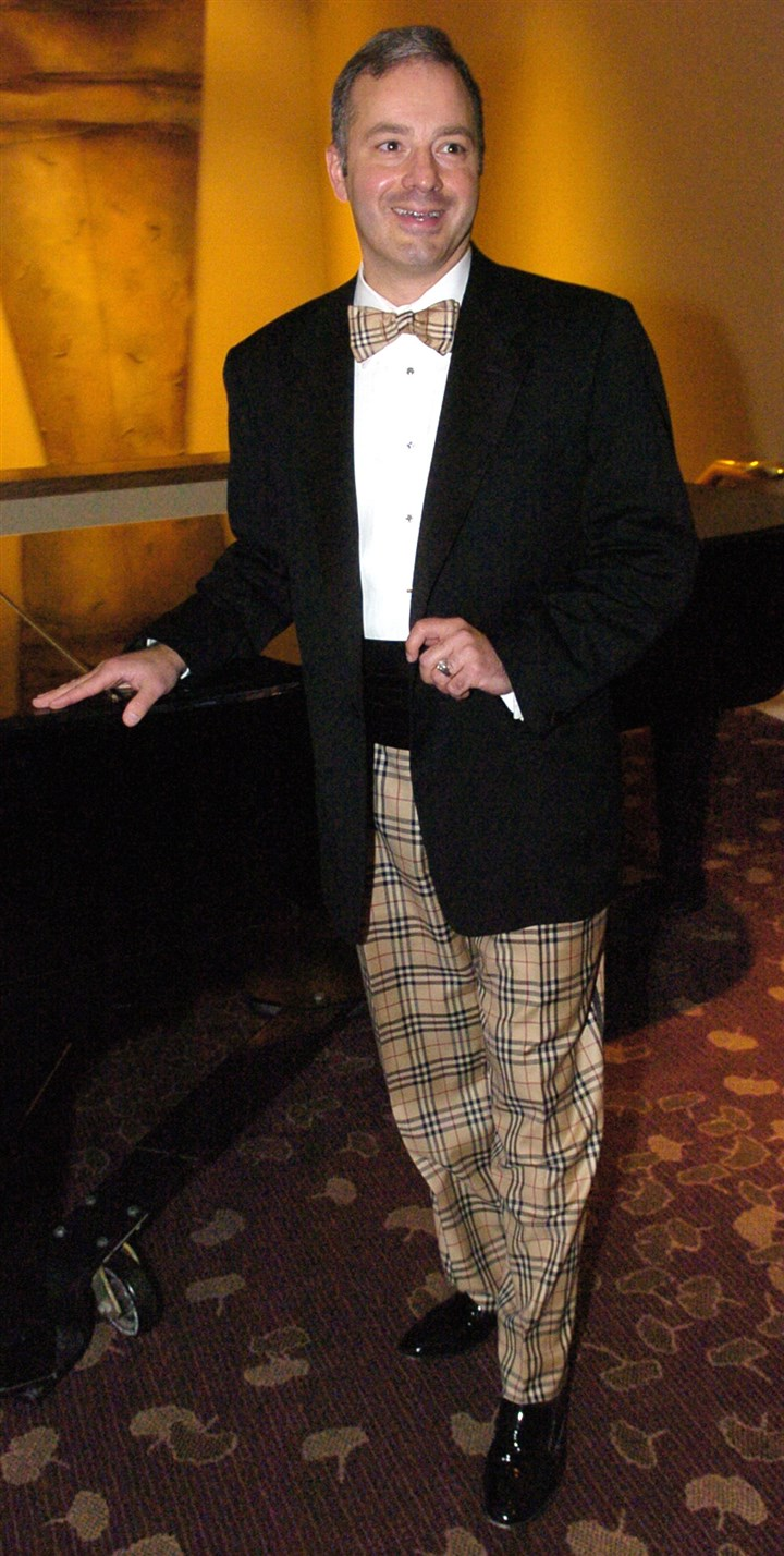 Gitnik2-4  Paul Gitnik at a Mercy Health System benefit in a Burberry tuxedo purchased at Burberry in New York.