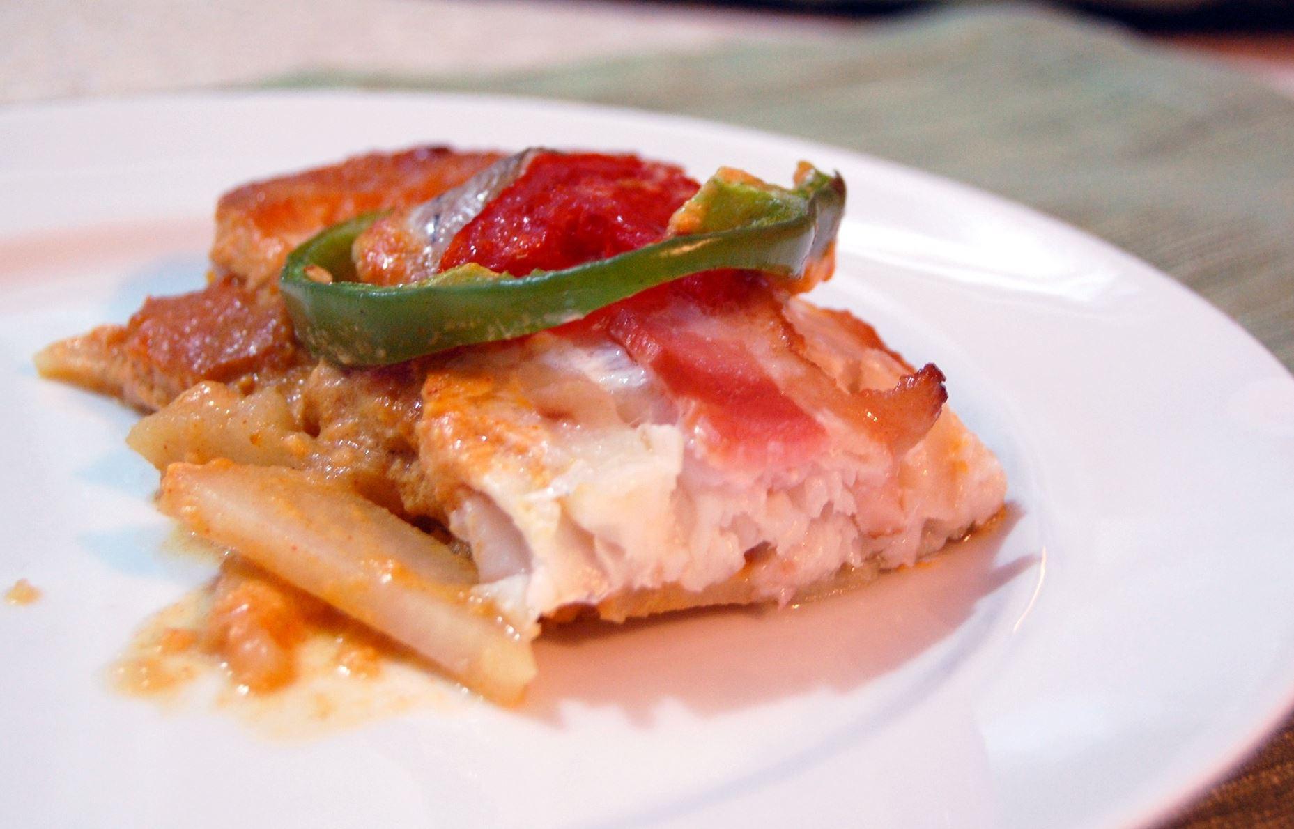 20131212hofishfood0290 Fish Paprikash Christmas Casserole.