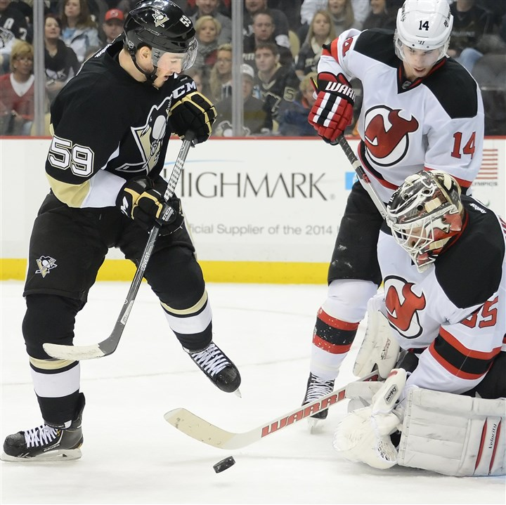 penguins1216 Jayson Megna is one of several players who started the season in the AHL but are now major contributors for the Penguins.