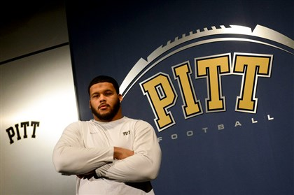 pitt1215a Defensive lineman Aaron Donald is the biggest man on Pitt's campus this season.