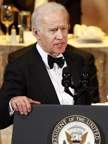Joe Biden Vice President Joe Biden delivers remarks after being given the Pennsylvania Society's Gold Medal award.
