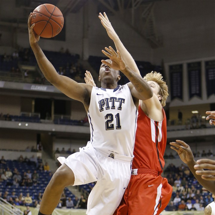 patterson1215 Pitt's Lamar Patterson drives for two of his team-high 18 points.