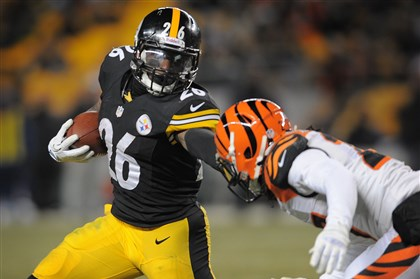 Le'Veon Bell  Le'Veon Bell pushes off Cincinnati's Dre Kirkpatrick during the Steelers Dec. 15 win against the Bengals at Heinz Field. Bell was chosen by the Steelers in the second round of the 2013 NFL Draft, the first draft since the Kennedy administration in which no running backs were chosen in the first round.