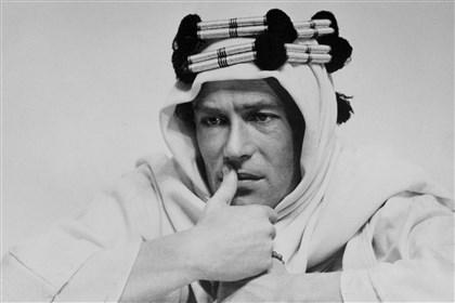 "Peter O'Toole in 'Lawrence of Arabia' Actor Peter O'Toole in ""Lawrence of Arabia."""