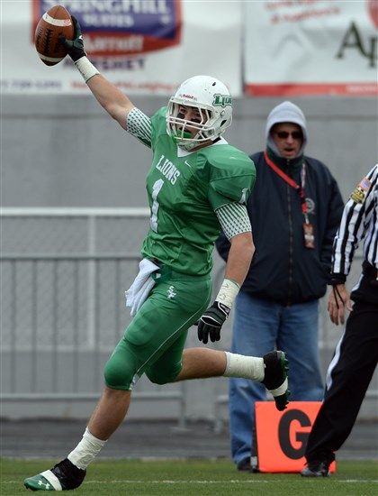 Logan Sharp South Fayette's Logan Sharp scores against Imhotep Charter in the PIAA Class AA championship.