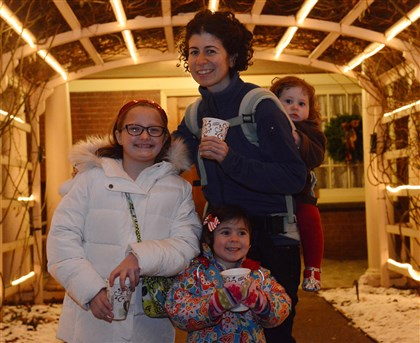 FEA Kate Ciarimboli with her niece Emma Hull, 9, left, and daughters Juliette, 3, and Annabel, 14 months.