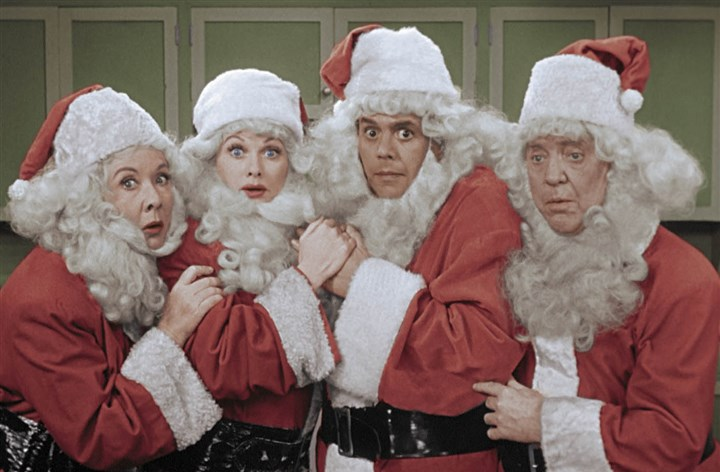 "I LOVE LUCY CHRISTMAS SPECIAL Vivian Vance, left, Lucille Ball, Desi Arnaz and William Frawley in the ""I Love Lucy Christmas Special,"" a one-hour special featuring two newly colorized back-to-back classic episodes of the 1950s series."