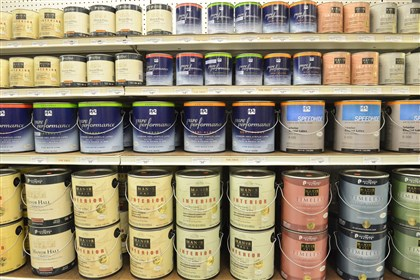 20131217lfPaintBusiness01 Rollier's Hardware in Mt. Lebanon is one of retailers where PPG Paints are already available.