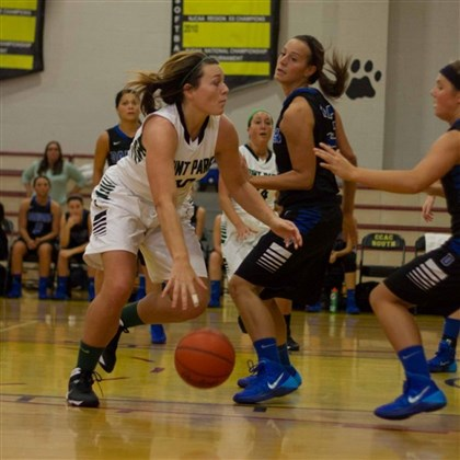 20132113hoWeir 2zspts.jpg Point Park's Samantha Weir, a graduate of Riverside High, is averaging 15.2 points per game.