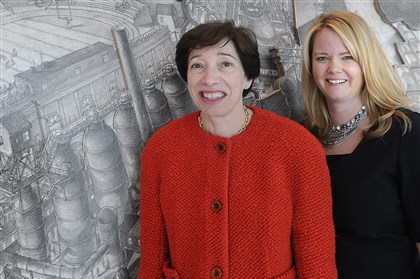 20131219lrwomenlawbiz03 Carolyn Duronio, left, and Jayme Butcher at Reed Smith.