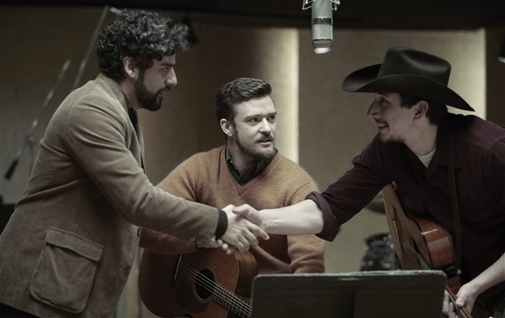 Llewyndavis From left, Oscar Isaac, Justin Timberlake and Adam Driver.
