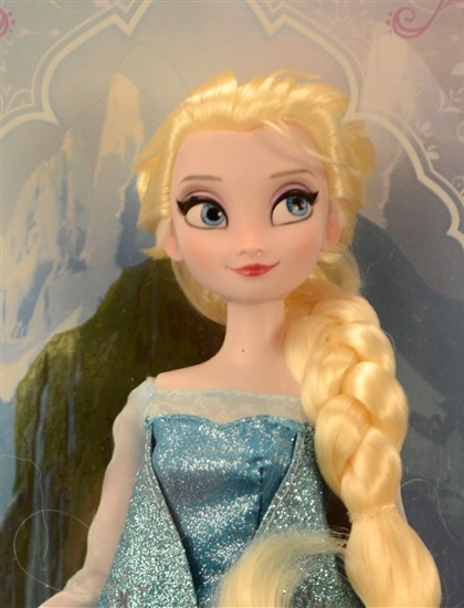 "20131208radShopHoliday1222  Elsa doll, a character from the Disney animated movie, ""Frozen."""