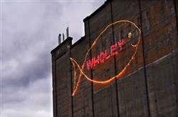 The Wholey fish sign in 2013.
