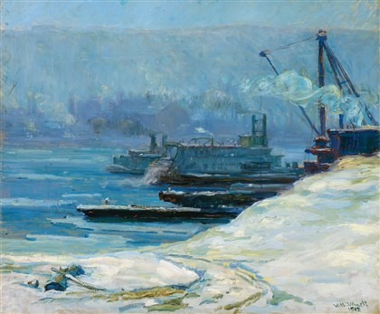 "20131224painting  ""River Scene,"" 1912, by Will J. Hyett (1876-1952)"