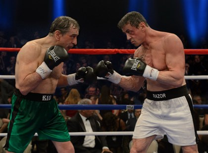 "Grudgematch Robert De Niro and Sylvester Stallone in ""Grudge Match."""