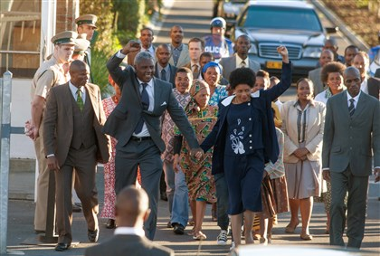 "MANDELA: LONG WALK TO FREEDOM Idris Elba and Naomie Harris star in ""Mandela: Long Walk to Freedom."""