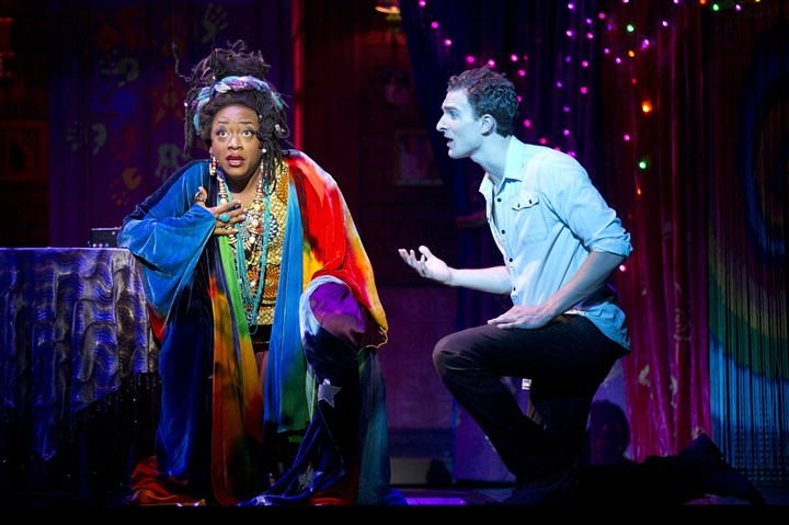 "Ghost the Musical, Sam and Oda Mae Carla R. Stewart and Steven Grant Douglas in ""Ghost The Musical."""