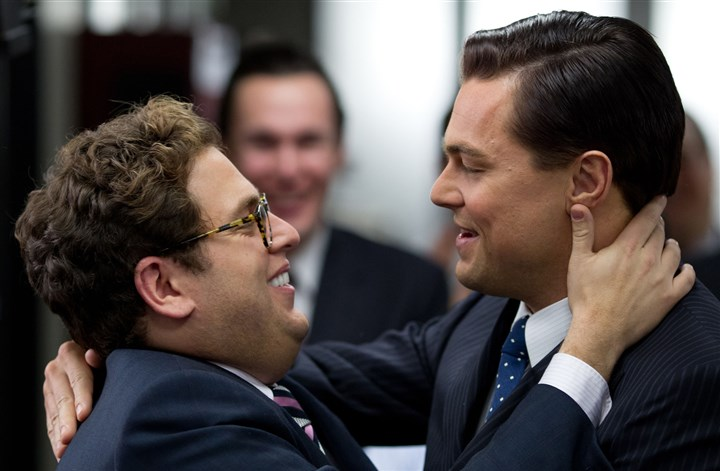 "Film Review The Wolf of Wall Street Jonah Hill, left, and Leonardo DiCaprio in a scene from ""The Wolf of Wall Street."""
