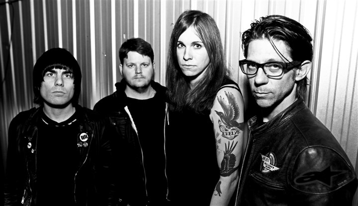 AgainstMe! Against Me! Inge Johansson, James Bowman, Laura Jane Grace and Atom Willard.