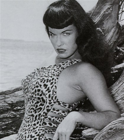 "BettiePage Bettie Page in Mark Mori's ""Bettie Page Reveals All."""