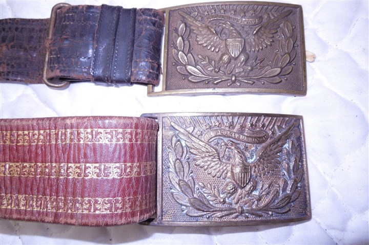 Gallagher3 Belt buckles belonging to Col.Thomas Foster Gallagher.