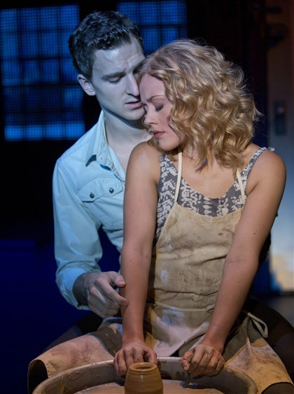 "Ghost the Musical Steven Grant Douglas and Katie Postotnik in ""Ghost the Musical."""