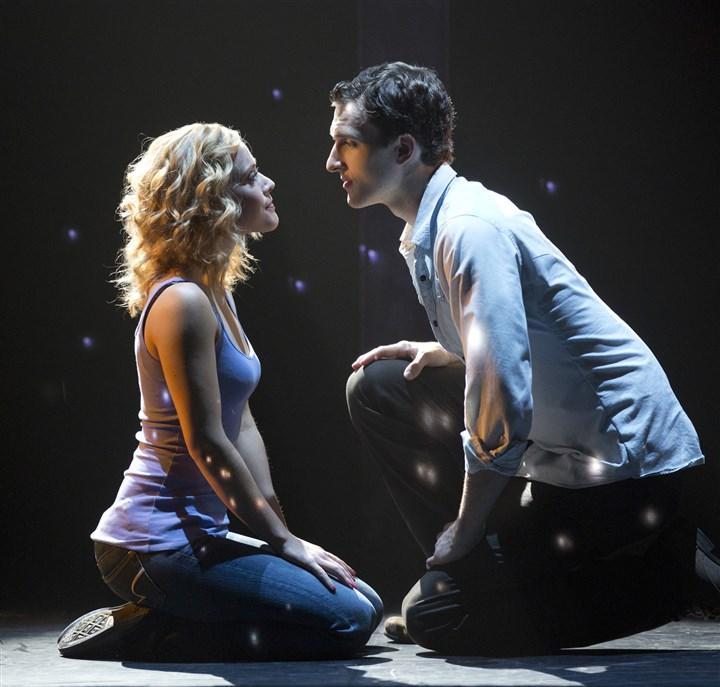 "Ghost the Musical Katie Postotnik and Steven Grant Douglas star in ""Ghost The Musical."""