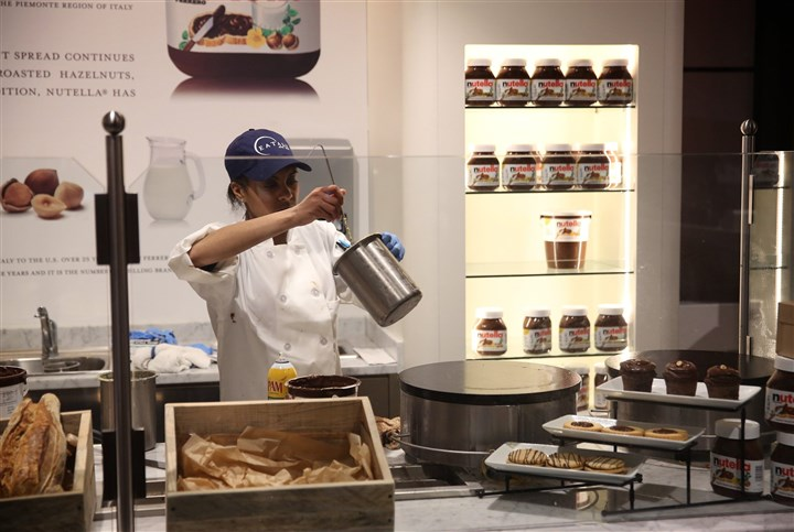 TRAVEL UST-CHICAGO-EATALY 3 TB A Nutella bar is featured in Eataly Chicago, an Italian market with many eating options as well in 63,000 sqare feet.