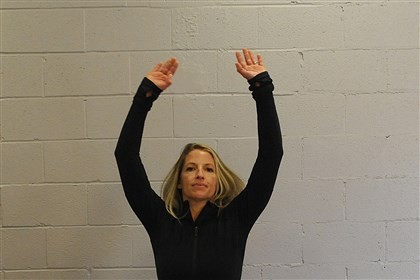 EXERCISE 1 / JUMPING JACKS EXERCISE 1 / JUMPING JACKS: Stand with your arms to the sides. In one movement, jump up, spread your legs apart and raise your arms over your head. Jump again, bringing your feet together and returning your arms to your sides. This is one jumping jack. Land softly.