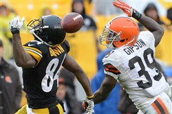 Browns safety Tashaun Gipson will be the top player in a secondary trying to at least limit Steelers receiver Antonio Brown.