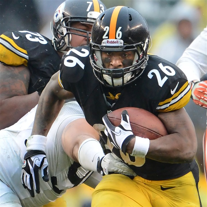 20131229pdSteelersSports17-1 After a start that was hampered by injuries, Le'Veon Bell rushed for 860 yards in 2013 -- third most among rookies in the NFL.