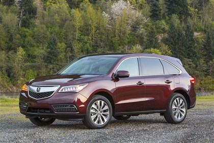 20131230Acura 2014 Acura MDX.: The 2014 Acura MDX carries on the rugged good looks of the rest of the family line and has room for seven.