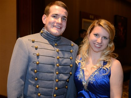 20131228bwAcadSeen08 Cadet Ryan Sanguigni,U.S. Military Academy and Kate Moslen.